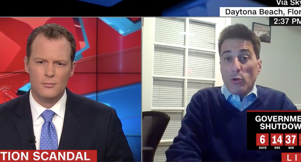 Head of NC GOP loses it and angrily shouts about Godzilla as CNN host presses him over election fraud