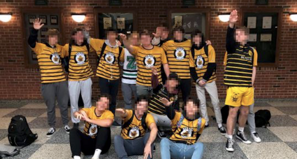 'Sickening' new photo emerges of Indiana high school boys giving Nazi salute