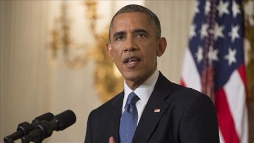 Obama says he has authorized U.S. air strikes against Islamic State 'if necessary'