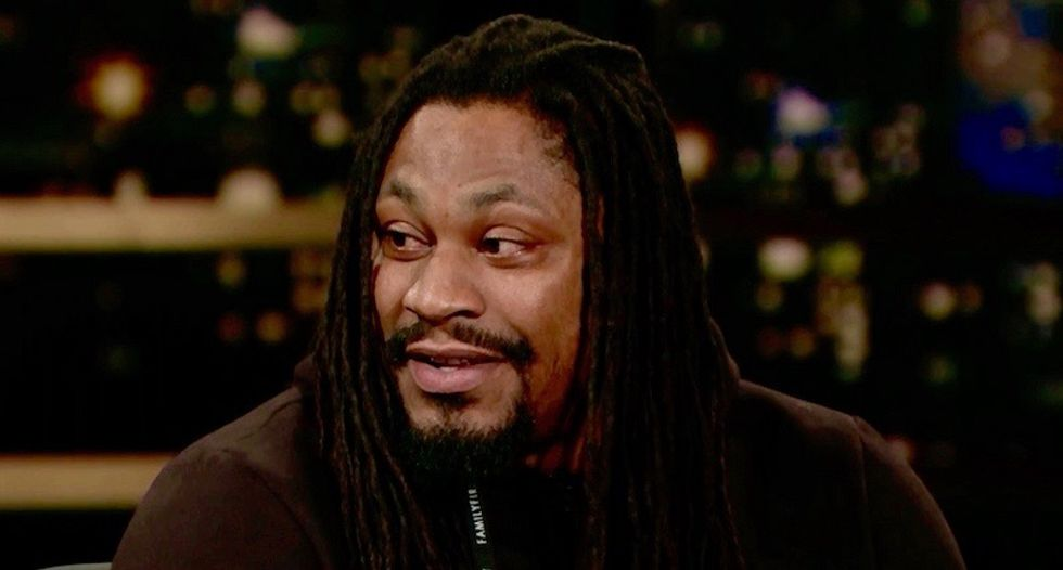NFL star Marshawn Lynch brutally smacks down Trump on HBO's Real Time: 'That motherf*cker say a lot of sh*t'
