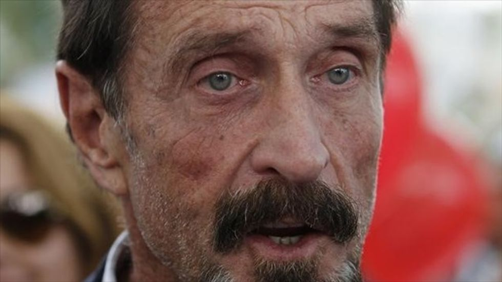 Tech mogul John McAfee goes to hackers' conference with new complaint website