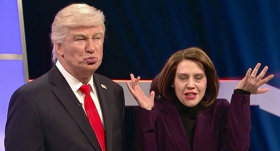 WATCH: Donald Trump and Nancy Pelosi face off in a hilarious 'Deal or No Deal' game on SNL