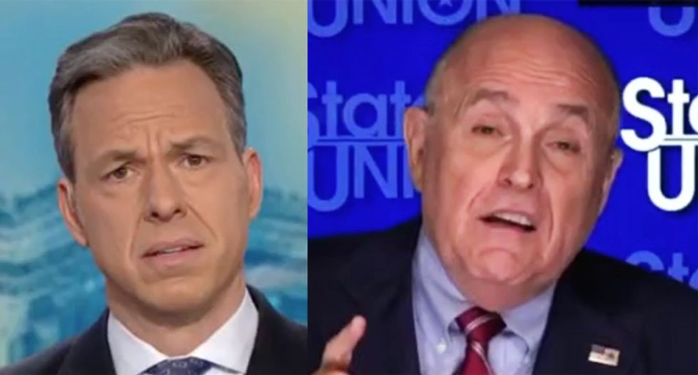 Rudy Giuliani accuses CNN's Tapper of 'hysteria' during meltdown over questions about Russia Trump Tower deal