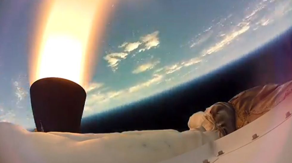 WATCH: NASA's 'flying saucer' goes for a test spin 180,000 feet above the Earth