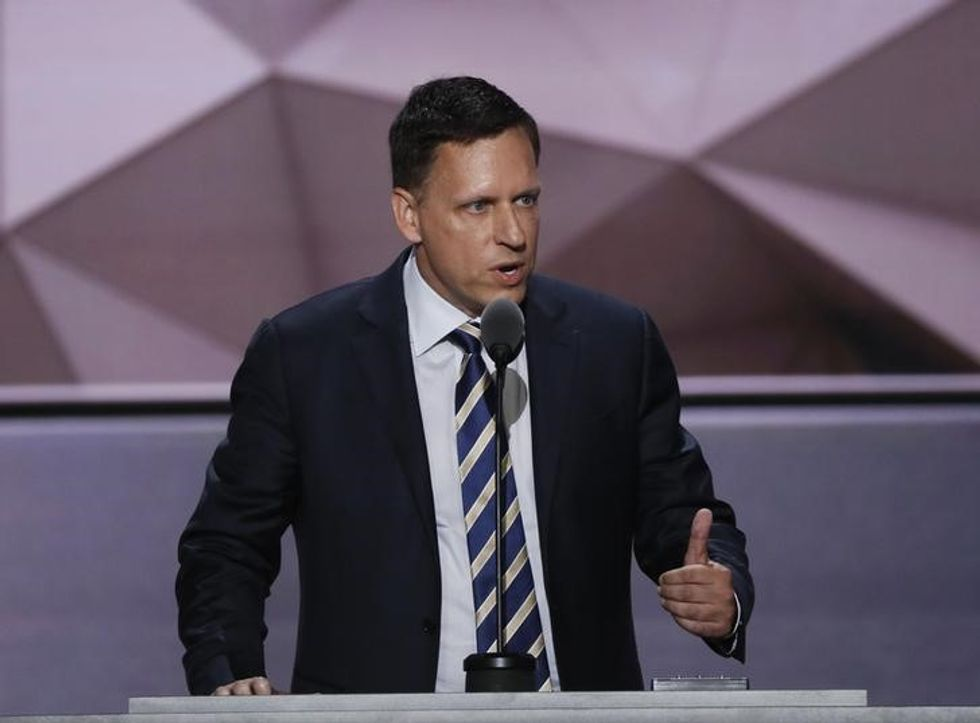 Tech billionaire Thiel says Trump movement 'not going away'