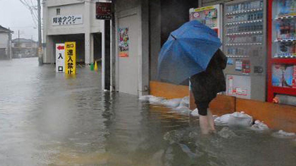 Typhoon Halong rips through western Japan