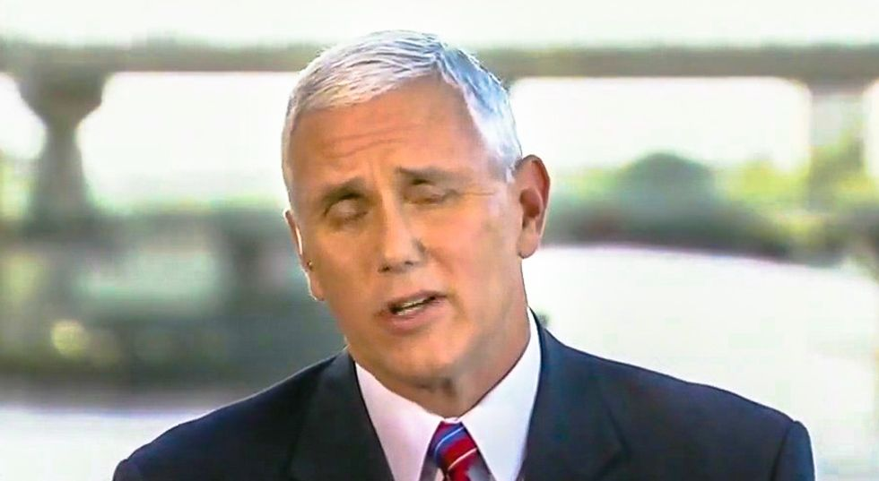 Mike Pence grew 'visibly red-faced' watching black pastor denounce Trump's 'sh*thole' comments on Sunday: report