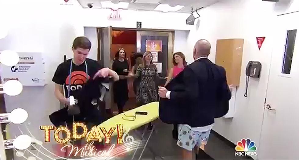 'Drink it in ladies!' Video shows Matt Lauer walking around in his underwear off-set on 'Today Show'