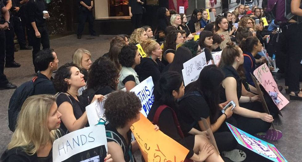 Woman groped while protesting outside Trump Tower: police