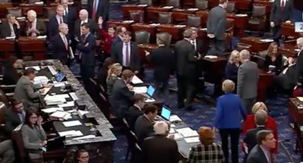 Senate votes to advance GOP tax bill