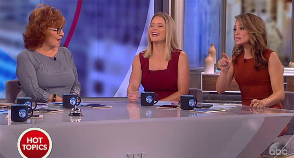 'Grow up and apologize!': Conservative panelist on The View blasts Trump over Machado insults