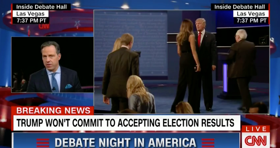 'One of the most stunning things I've ever heard': CNN's Tapper blasts Trump on #DebateNight