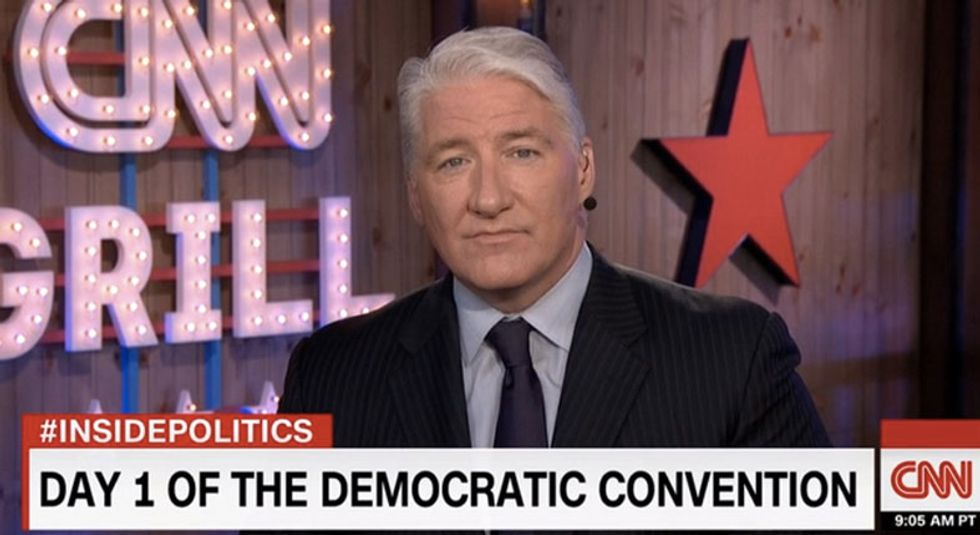CNN's John King caught joking about 'Irish lives matter' on open mic during speech on immigrants