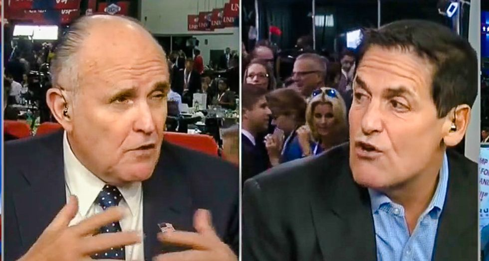 WATCH: CNN's 'debate' between Mark Cuban and Rudy Giuliani is as bonkers as you would expect