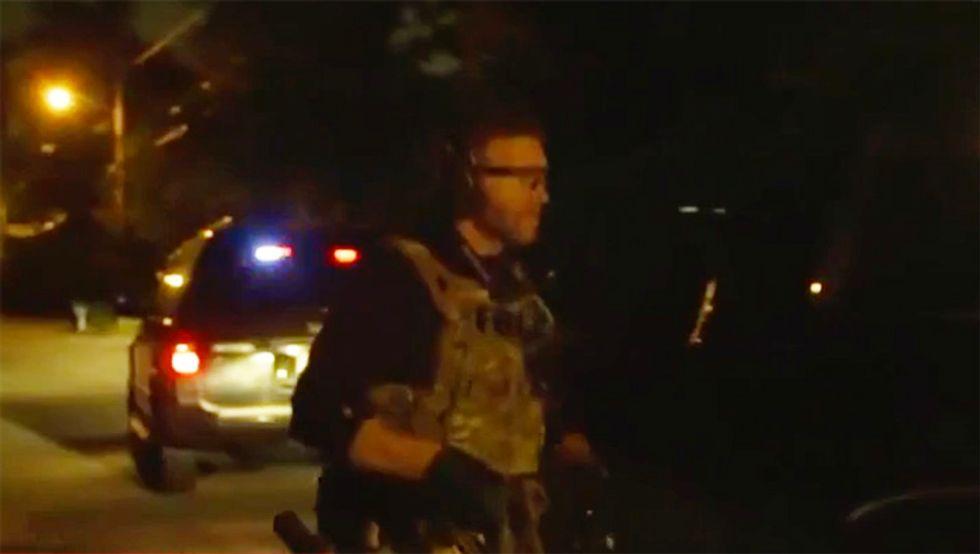 'FBI, open the door!': Watch dramatic video of FBI early morning arrest of Trump associate Roger Stone in Florida
