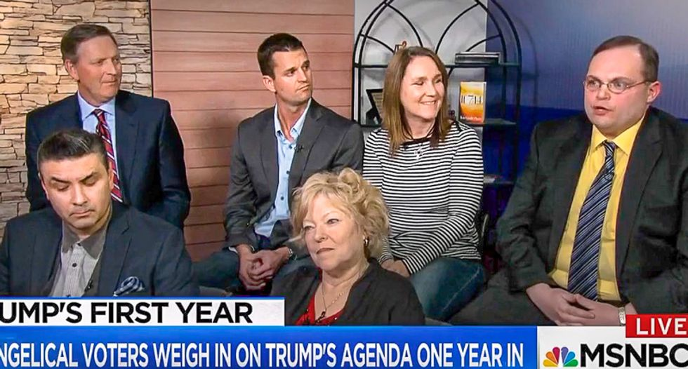 Trump evangelicals tell MSNBC: His racism is 'contrary to Christ' but he can still help 'criminalize abortion'