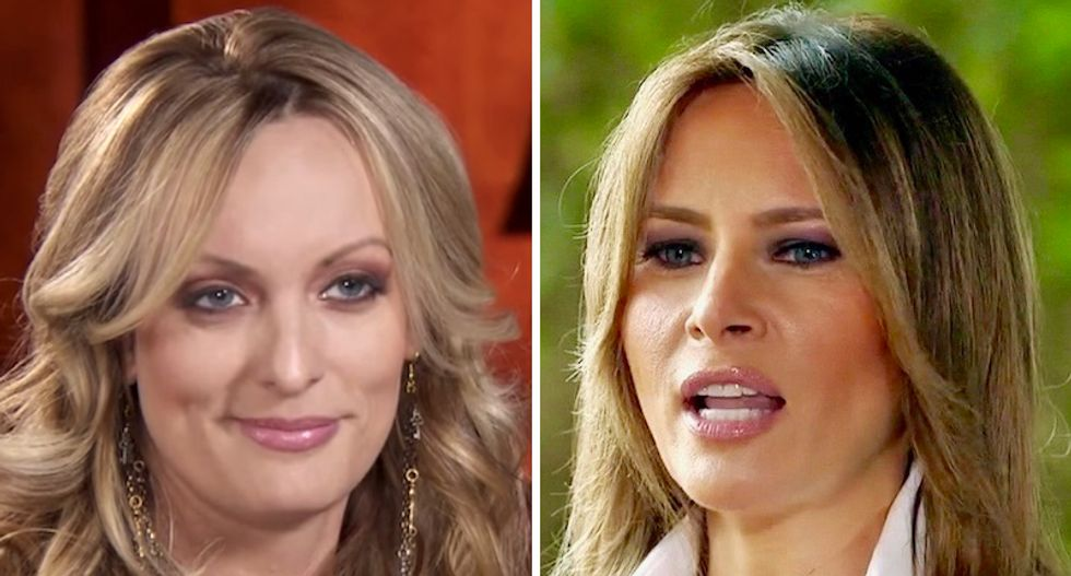 Stormy Daniels levels Trump supporter for claiming Melania is a better person because she 'married a billionaire'