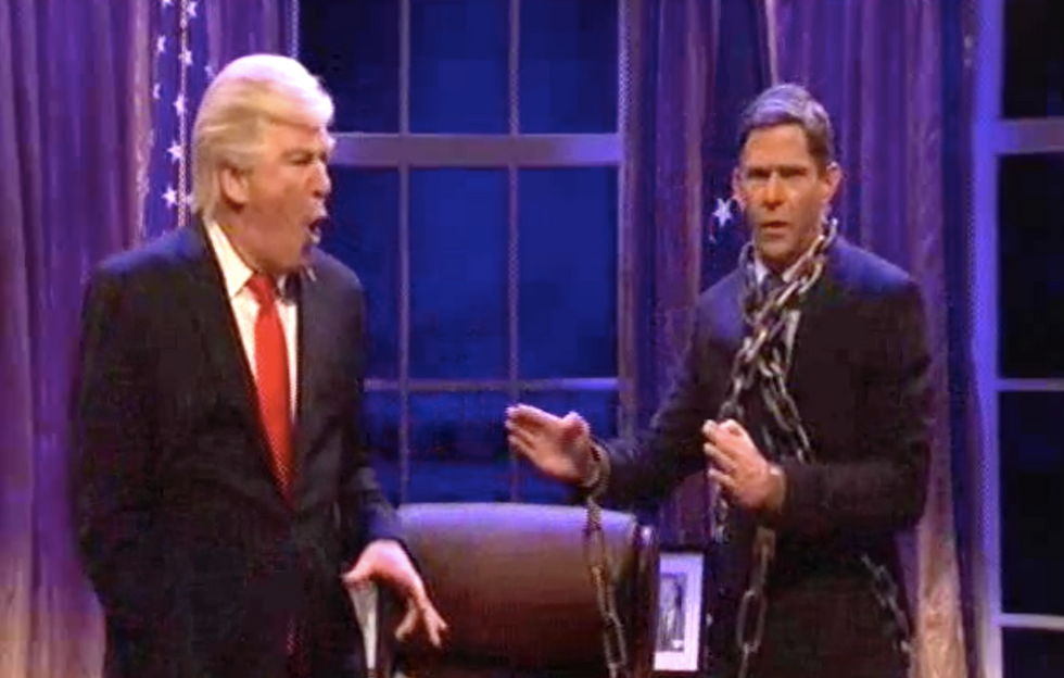 Alec Baldwin returns to SNL to face down 'Michael Flynn: The Ghost of Witness Flipped'