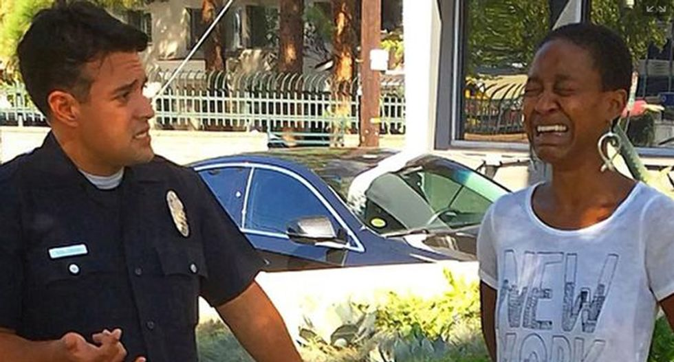 Black actress who falsely accused LA cop of racism ordered to rewrite letter of apology