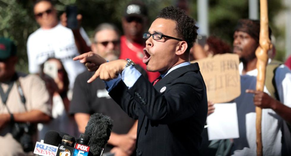 San Diego protesters chant 'murder' after shooting death of unarmed black man