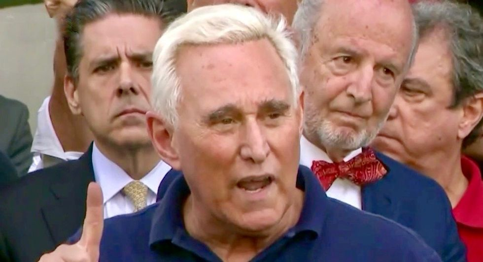 Roger Stone desperately claims 'crosshairs' photo of judge is not threatening: 'It is open to interpretation'