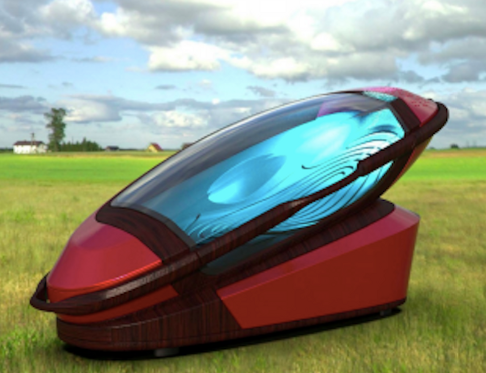 High-tech suicide machine makes death a painless, peaceful, optimal way to go