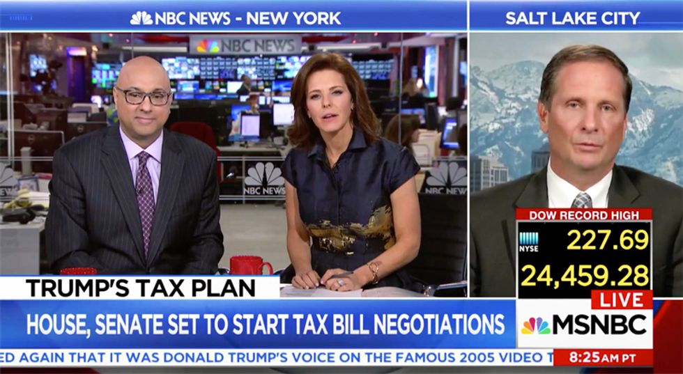'Tell me one': MSNBC's Ruhle easily stumps Republican after he claims tax plan closes dozens of loopholes