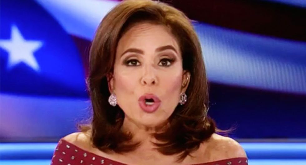MSNBC panel ridicules Fox's Jeanine Pirro for giving TV pep talk to Trump -- while dressed like she's 'going to a ball'