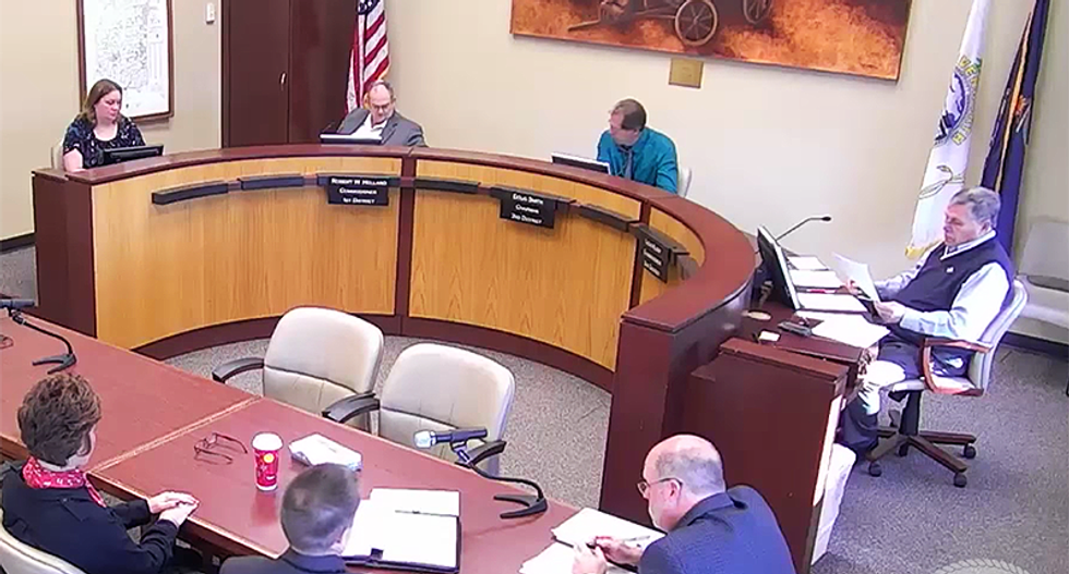 WATCH: Kansas official goes off on bizarre racist rant during holiday calendar discussion