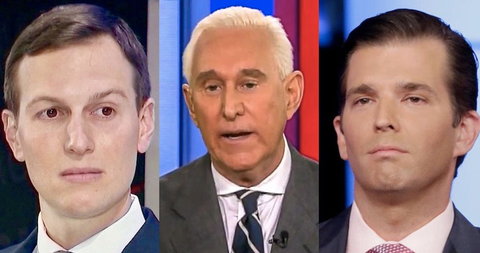 'Roger Stone is going to flip like a pancake': MSNBC analyst predicts president's ally might turn on Trump family