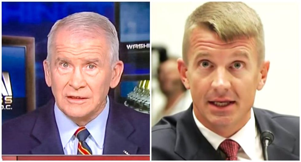 Oliver North urging White House to build private spy army overseen by Betsy DeVos' brother: reports