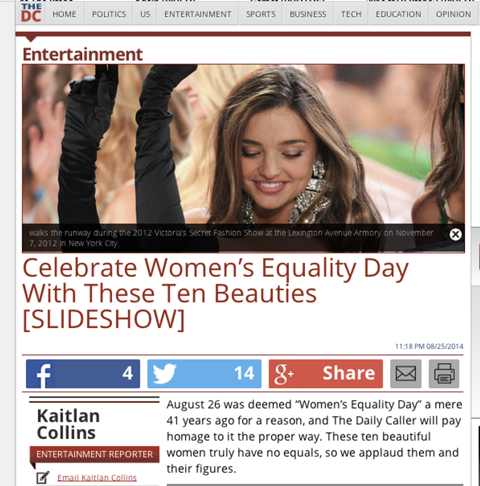 """""""Daily Caller"""" celebrates Women's Equality Day with a sexy slideshow that is broken"""