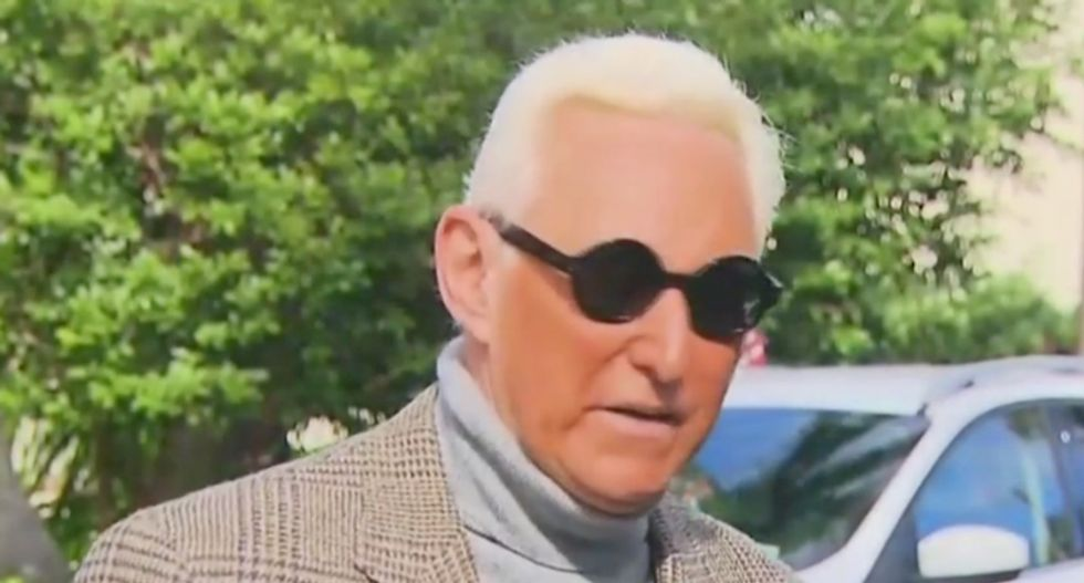 Roger Stone rages against his former colleague Jerome Corsi in self-pitying press conference