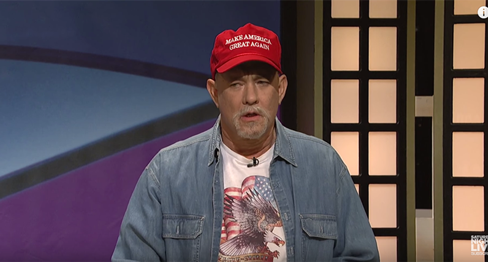 WATCH: Tom Hanks perfectly captures deplorable Trump supporters on SNL's 'Black Jeopardy'