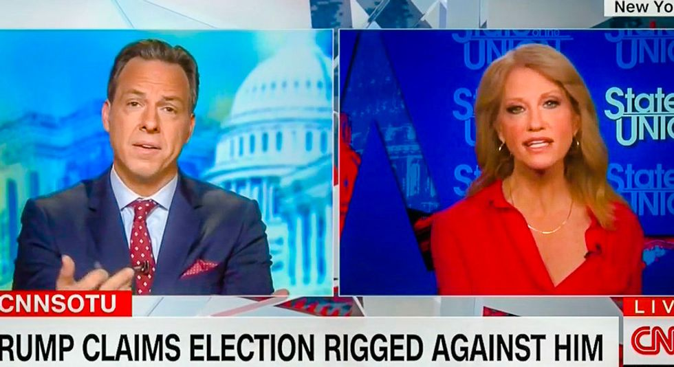 Busted: Jake Tapper unearths clip of Kellyanne Conway saying Trump 'whines' about rigged elections