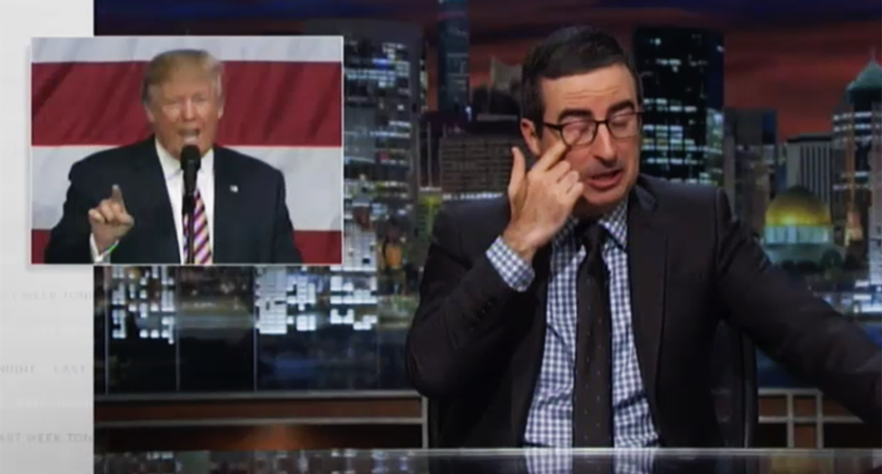 John Oliver rips 'childish' Trump's third debate and Al Smith dinner disasters