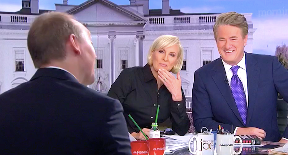 'Did anyone tell him that was dumb?' MSNBC's Mika asks ex-Trump aide about 'bleeding from the face' tweet