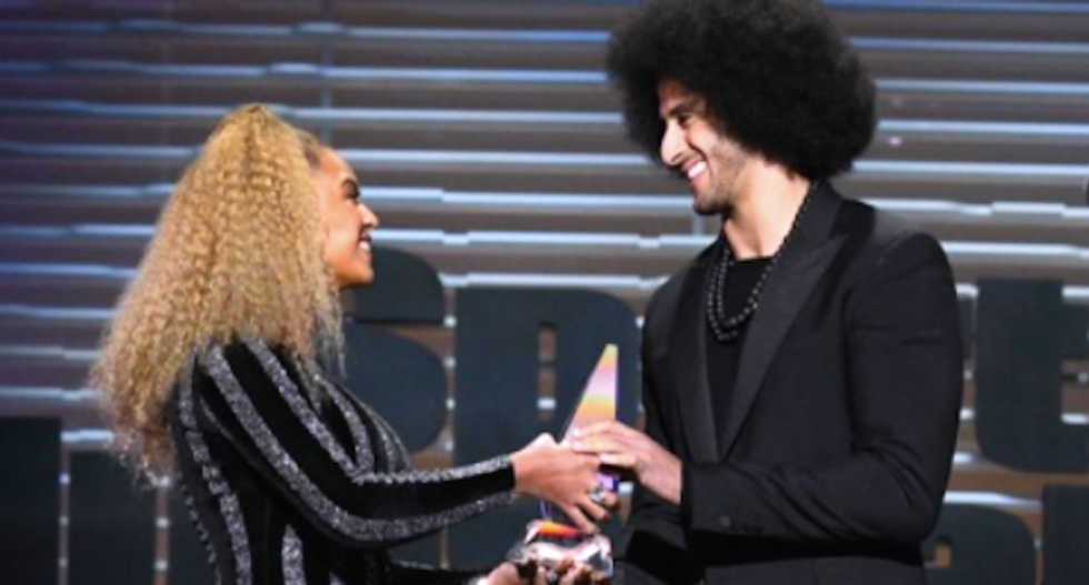 Racists go bonkers after Beyoncé surprises Kaepernick with Ali Legacy Award