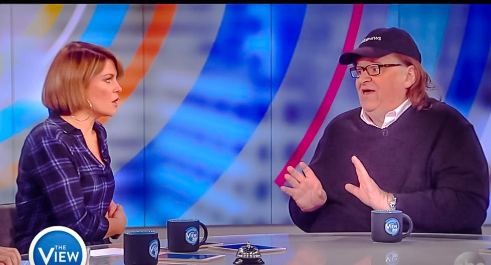 Michael Moore advises Bible-thumping View host: 'Don't get gay married -- you won't like it'