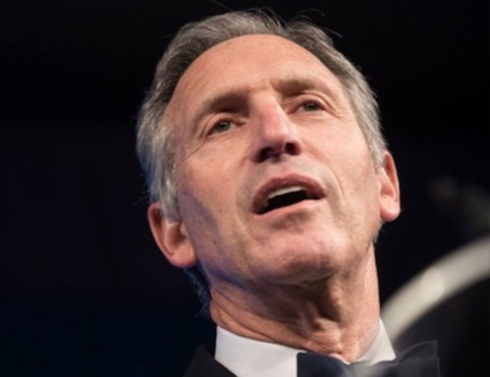 Howard Schultz blames his run for president as a third-party candidate on Alexandria Ocasio-Cortez