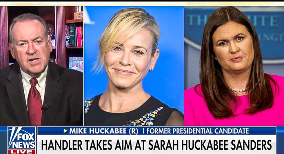 Sarah Sanders' dad says Chelsea Handler is barren and 'jealous': Instead of raising kids, she 'aborted them'