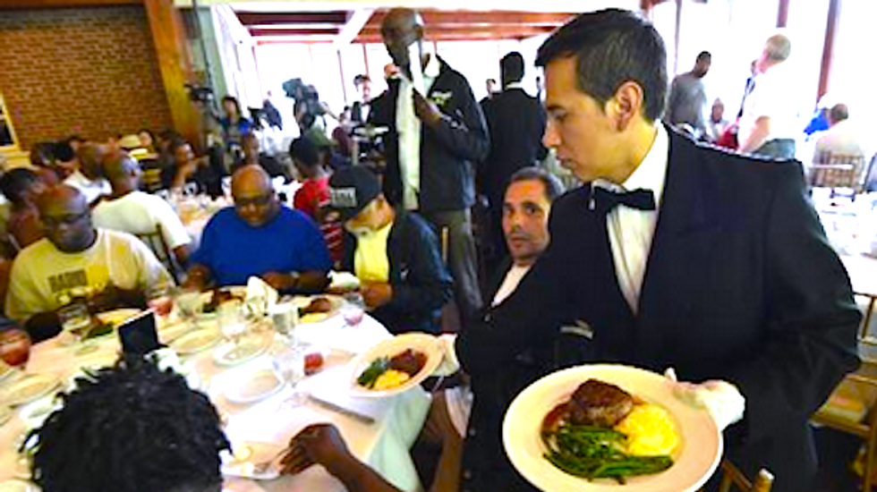 NYC homeless angered over Chinese tycoon's dinner stunt: 'Fraud with a capital F'