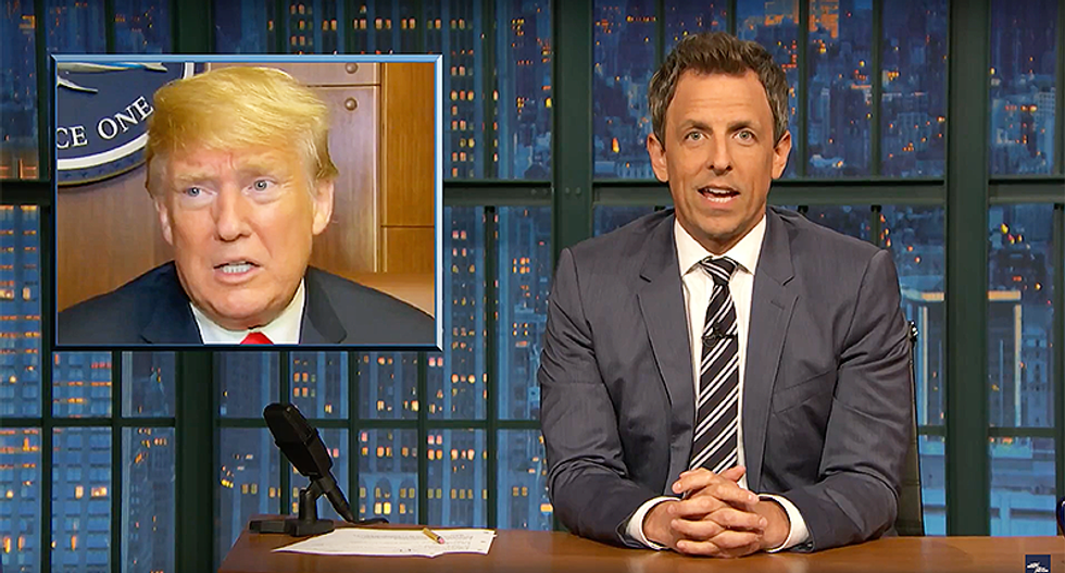 Seth Meyers hilariously mocks Trump Brexit gaffe thinking Ireland is a part of the UK: 'I dare you to say that in a pub'