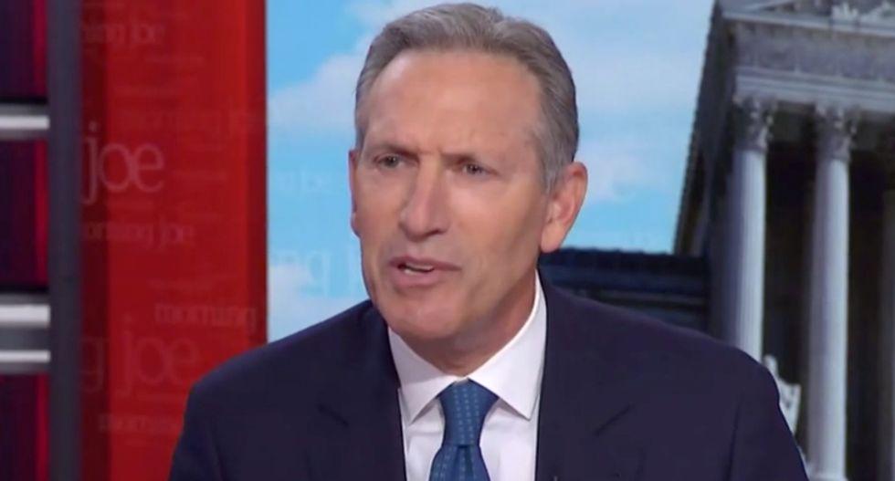 'Self-made' billionaire Howard Schultz uncorks bizarre self-pitying rant on Morning Joe