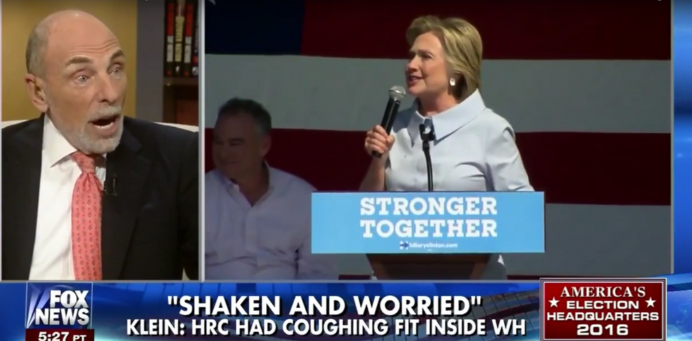 Fox News' last gasp: Deathly-ill Hillary only surviving the campaign by chugging 'booster drugs'