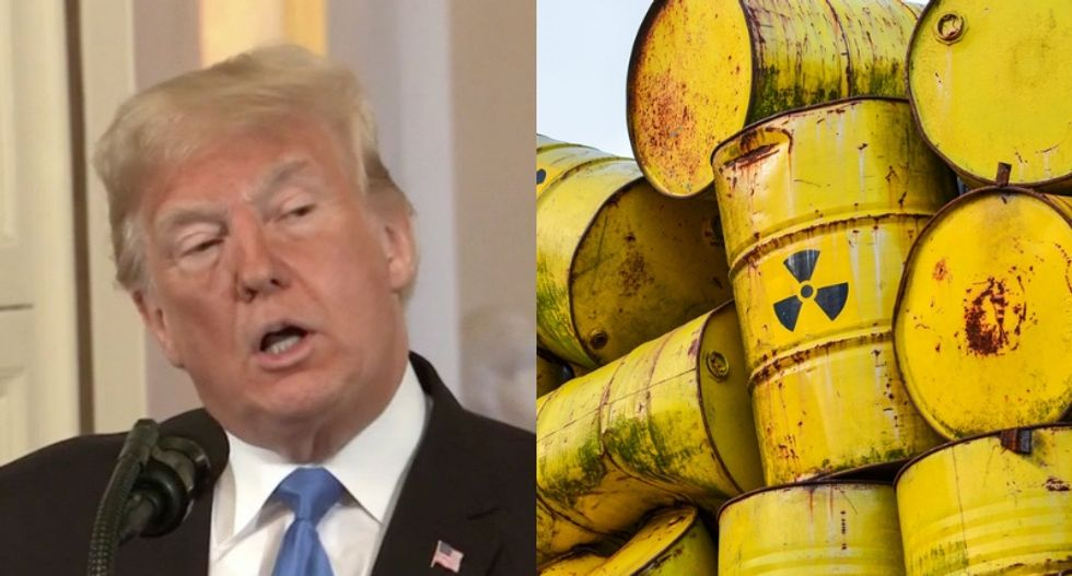 Trump administration busted for shipping radioactive plutonium to a state he lost in the 2016 election