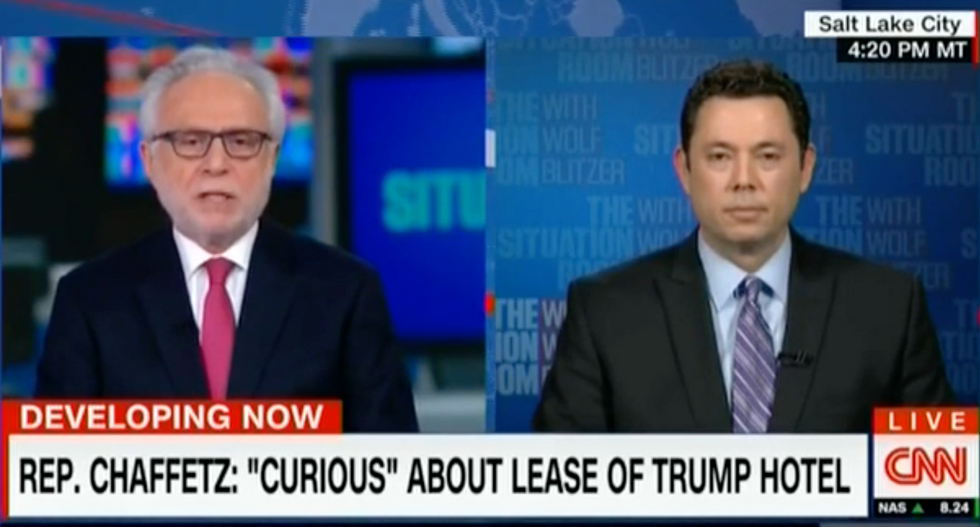 WATCH: Wolf Blitzer batters Jason Chaffetz for refusing to investigate Trump's conflicts of interest