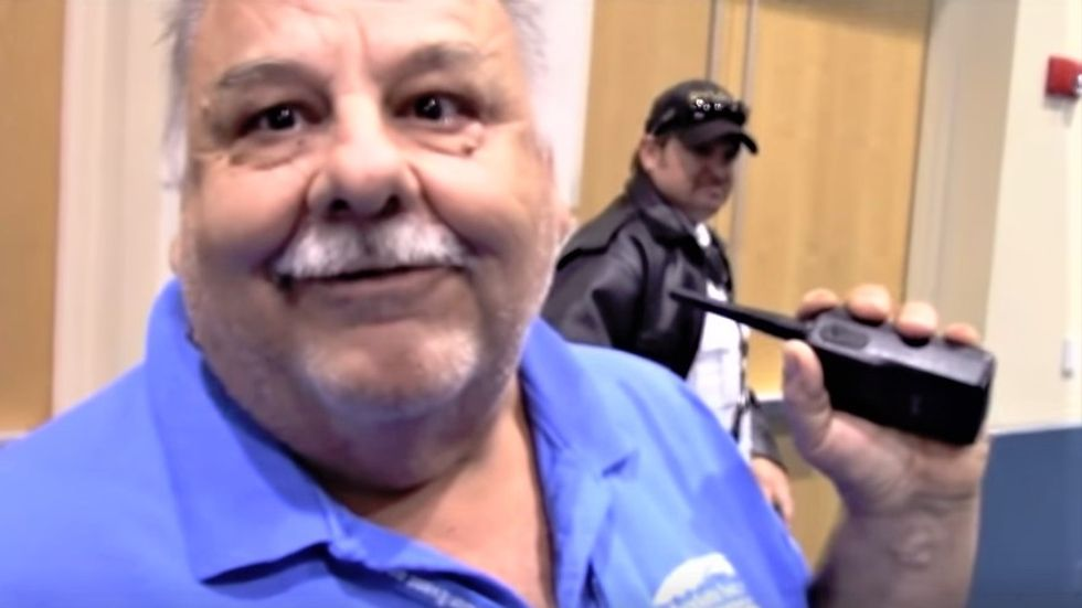 WATCH: Libertarian activist stalks and harasses county-employed janitor until he cries and quits