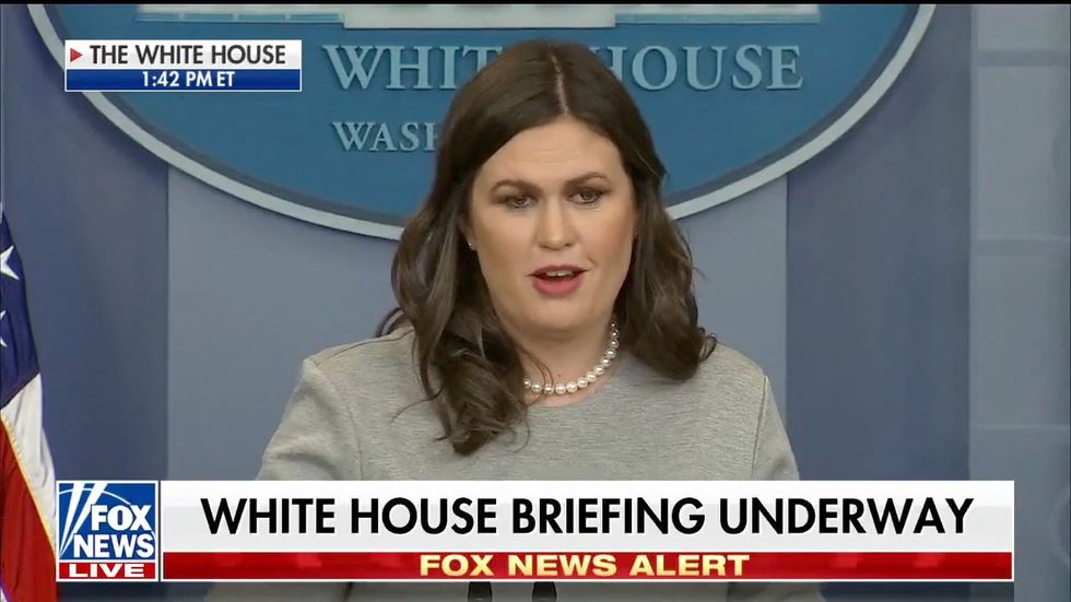 Sarah Sanders opens briefing with Christmas story: 'That's the greatest gift of all, a savior was born'