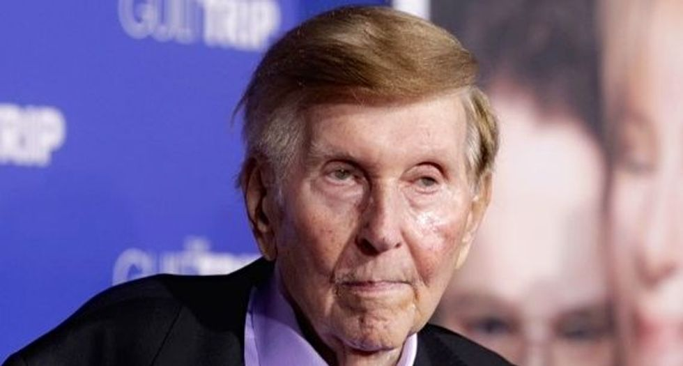 Redstone sues ex-girlfriends, says had to borrow from National Amusements